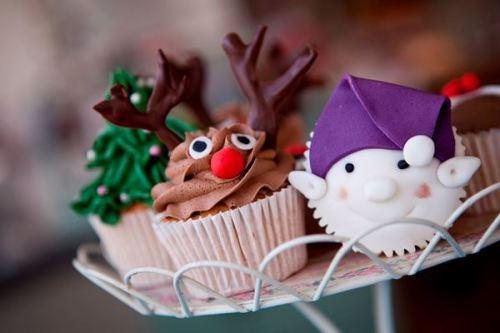 Cupcake, Chocolate, Christmas