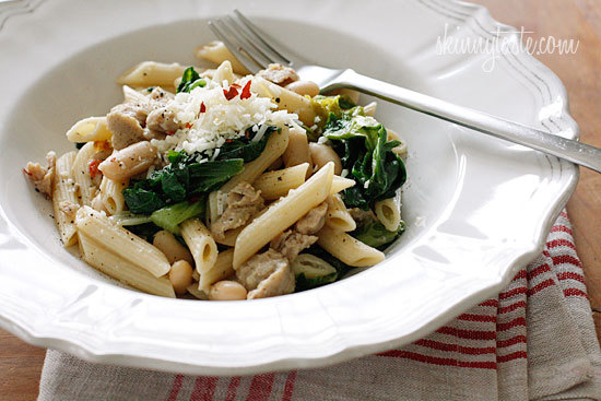 Pasta With Italian Chicken Sausage, Escarole And Beans (click Link For Recipe)
