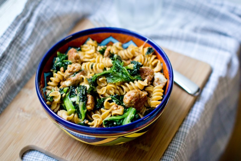 Chorizo And Kale Pasta Bowl
