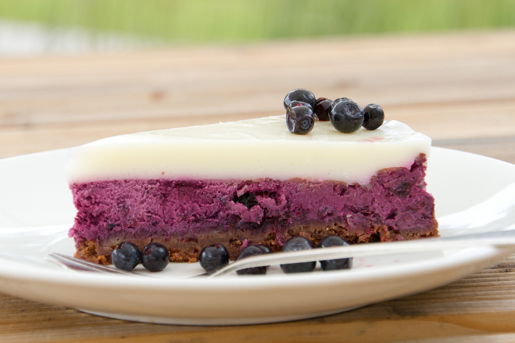Bilberry cheesecake / Blueberry cheesecake / Mustika-toorjuustukook (by Pille - Nami-nami)