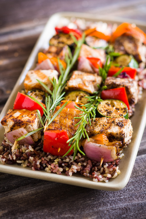 Grilled Swordfish Kabobs with Vegetables