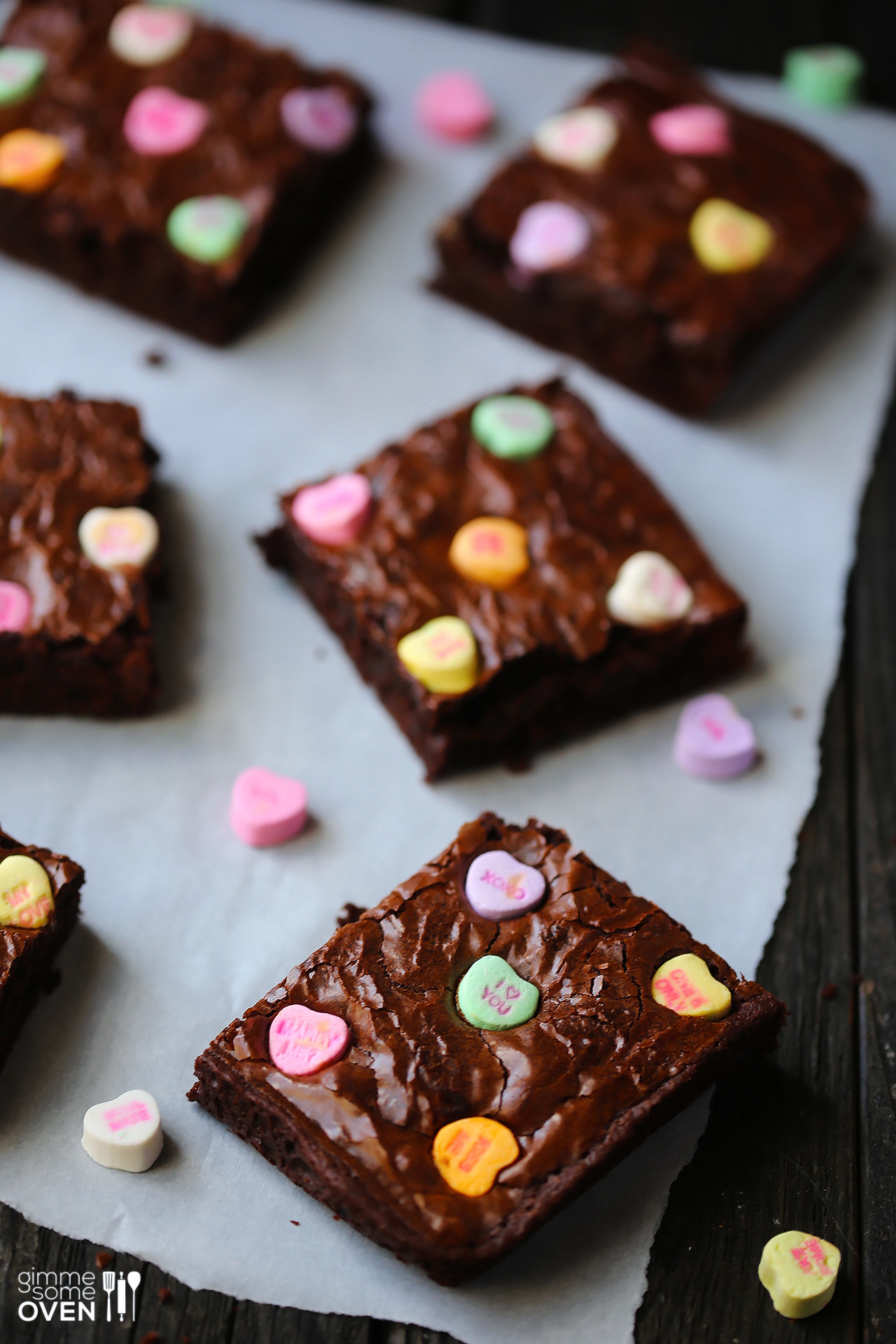 Recipe: Conversation Heart Brownies