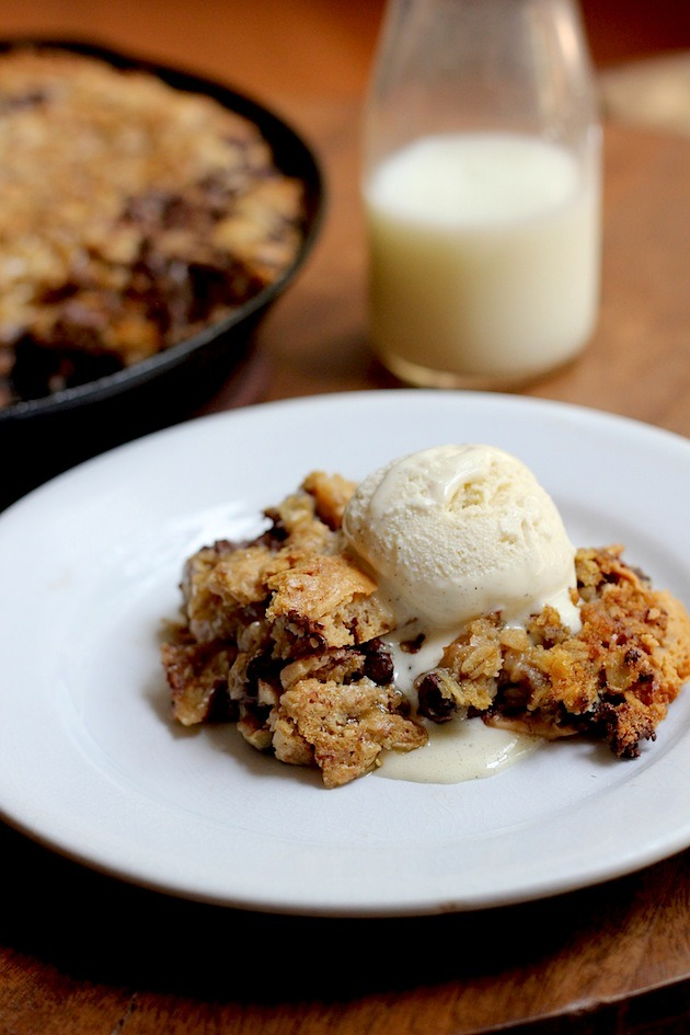 Recipe: Chocolat Chip Peanut Butter Oatmeal Skillet Cookie