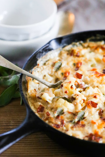 Cauliflower Gratin with Garlic and Sage