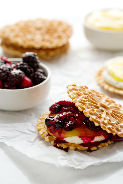 Roasted Berry Napoleons