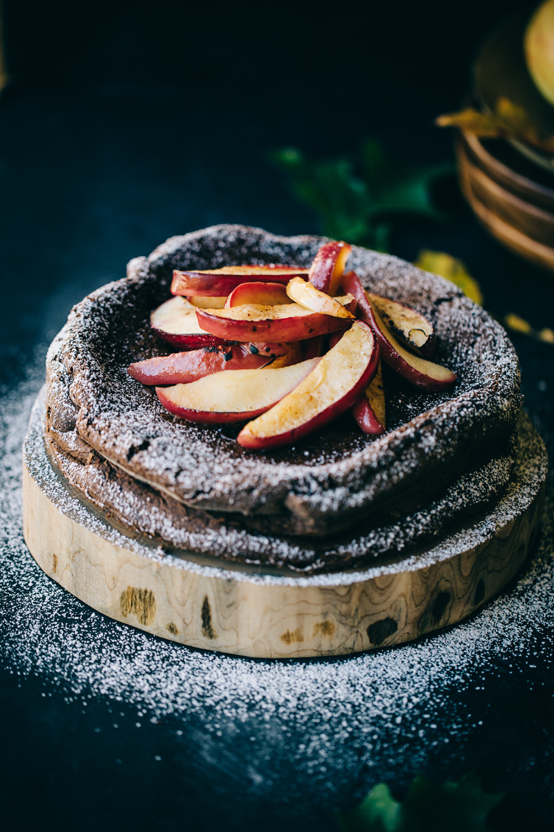 Rustic Brandy Chocolate Apple Flourless Cake The Artful Desperado