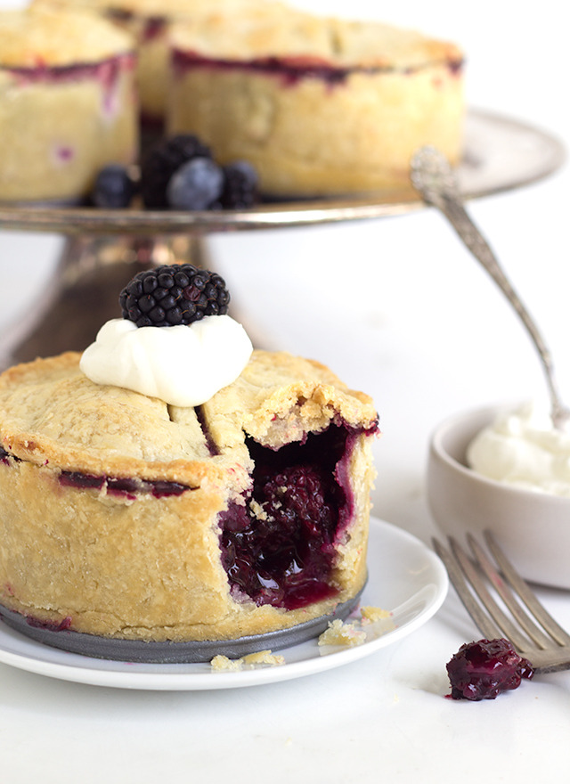 Deep Dish Black and Blueberry Pie